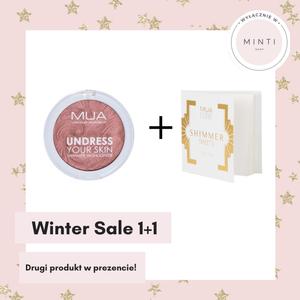 MUA Undress Your Skin Shimmer Highlighter Rozświetlacz Do Twarzy Rosewood Glimmer + Bibułki rozświetlające White Gold