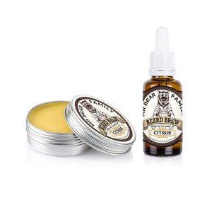 Mr Bear Family Beard Balm & Oil Citrus Kit Zestaw Brodacza