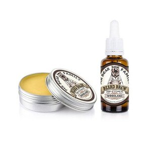 Mr Bear Family Beard Balm & Oil Woodland Kit Zestaw Brodacza