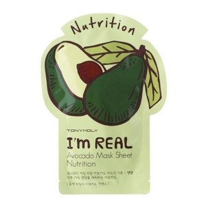 Tony Moly I'm Real Nutrition Maska w płacie AVOCADO