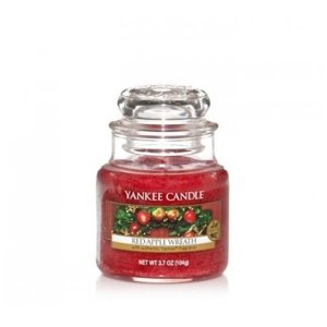 Yankee Candle ŚWIECA W SŁOIKU MAŁA Red Apple Wreath