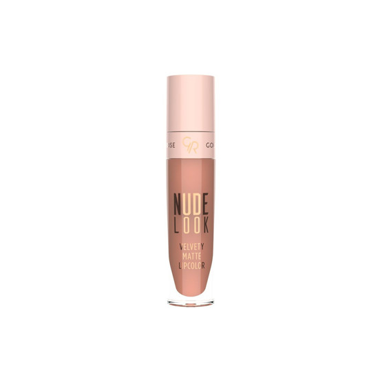 Golden Rose Velvety Matte Lipcolor - Nude Look Matowa pomadka do ust w płynie 01