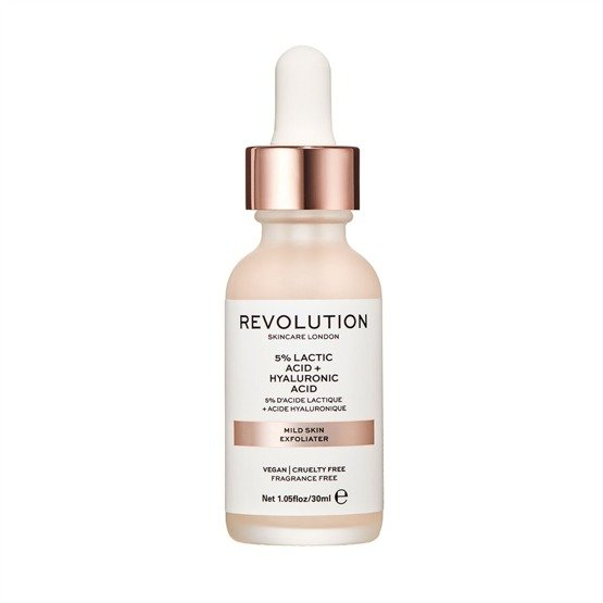 Makeup Revolution SKINCARE Mild Skin Exfoliator - 5% Lactic Acid + Hyaluronic Acid Serum do twarzy 30ml