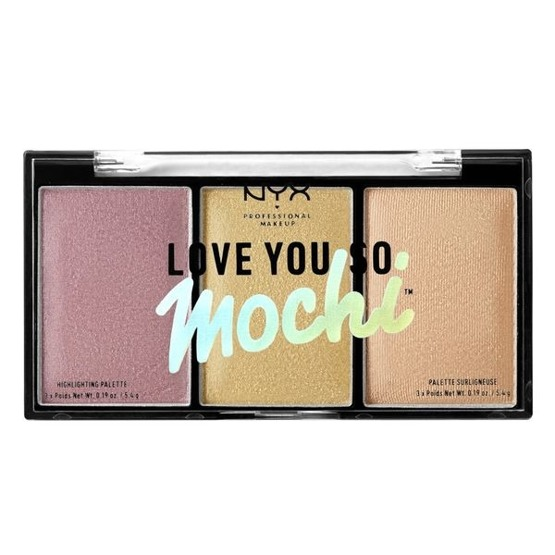 NYX Professional Makeup Love You So Mochi Highlighting Palette Paleta Rozświetlaczy - Lit Life - Warm Tones