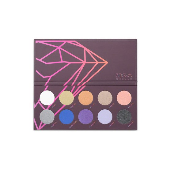 ZOEVA Retro Future Palette Paleta 10 cieni do oczu